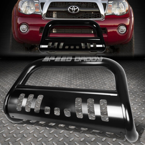 FOR 05 15 TOYOTA TACOMA TRUCK 2WD 4WD BLACK 3quot; BULL BAR PUSH BUMPER GRILLE GUARD