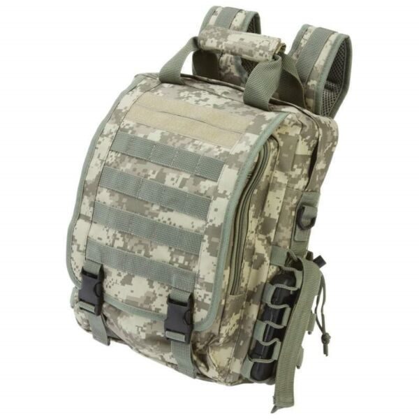 BACKPACK Heavy Duty Digital Camo TACTICAL DAY PACK Water Resistant Bug Out Bag $25.99