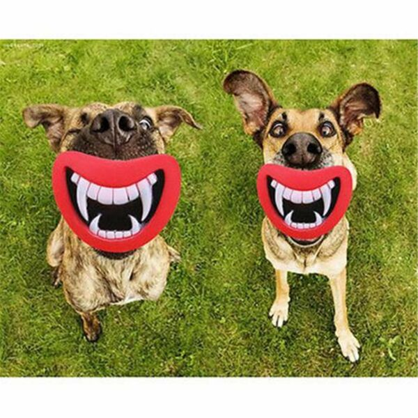2pcs Puppy Dog Toys Big Red Lip Rubber Toy Dog Toy Lips Pet Dog Sound SqueakyToy $2.99