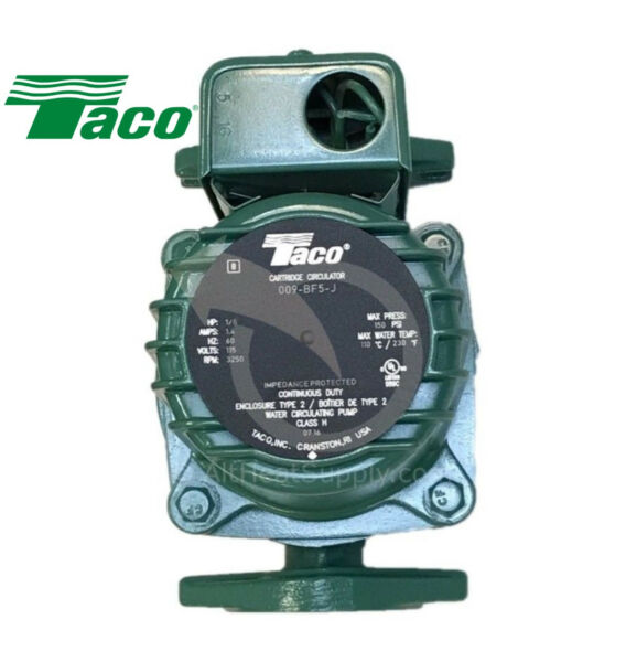 Taco 009 BF5-J Pump Central Boiler Wood Furnace Better then 009-F5