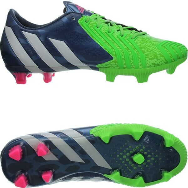 Adidas Predator Instinct FG men's soccer cleats blue/white/green FG-studs NEW