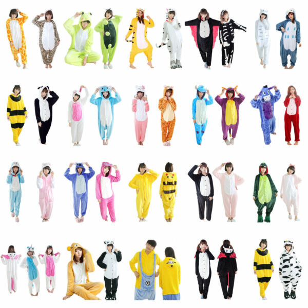 Onesie Unisex Adult Kigurumi Pajamas Anime Cosplay Costumi Sleepwear Halloween