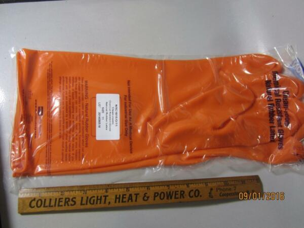 North Safety Products Clean-Room Chemical Resistant Gloves Natural Rubber Latex $2.99