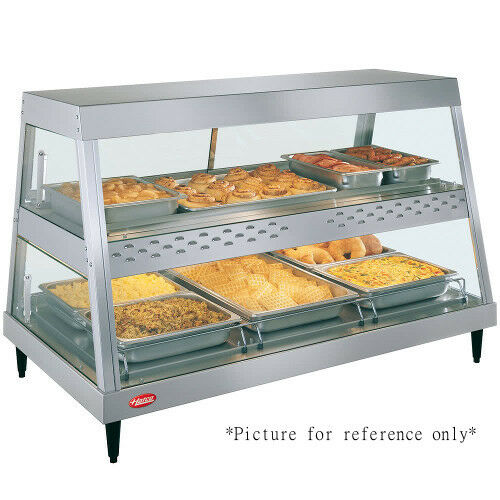 Hatco GRHDH-3PD Dual Countertop Heated Display Case with 3 qt. Humidity Capacity