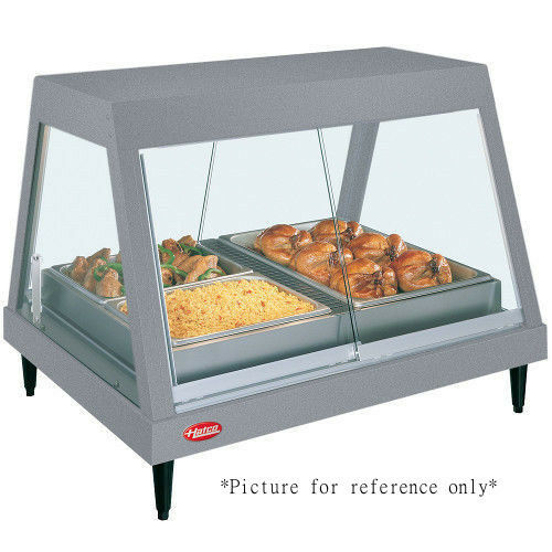 Hatco GRHDH-2PD Dual Countertop Heated Display Case with 3 qt. Humidity Capacity