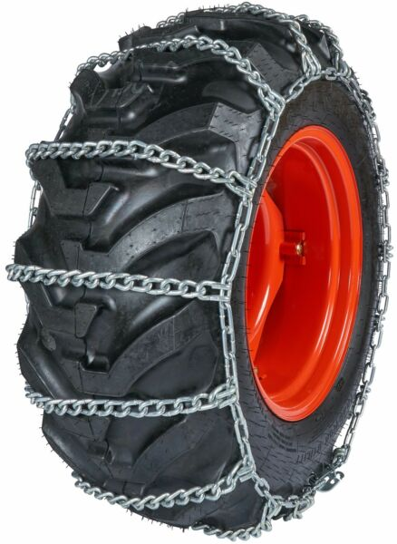 Quality Chain 0871 10mm Field Master Link Tractor Tire Chains Snow Traction
