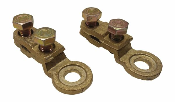 2x Solid brass Heavy Duty side battery post cable terminal connectors