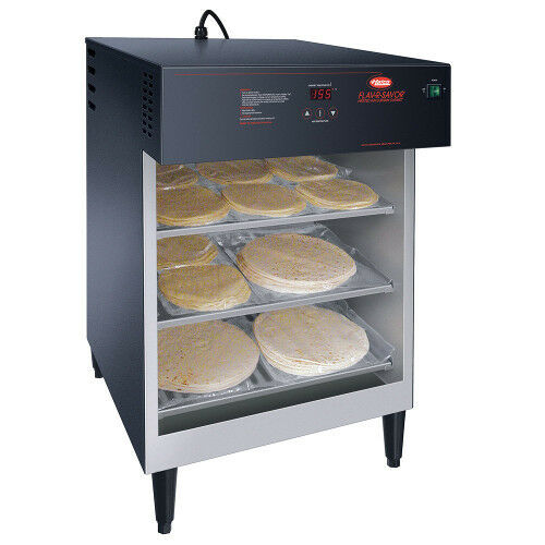 Hatco FSHAC-3 Countertop Air Curtain Heated Display Cabinet with 3 Tier Slides