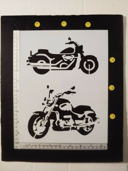 Motorcycle Motorcycles Bike Bikes 11quot; x 8.5quot; Stencil FAST FREE SHIPPING $12.73