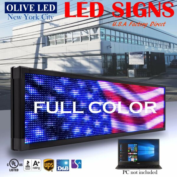 OLIVE LED Sign Full Color 69x102