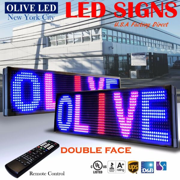 OLIVE LED Sign 3C RBP 2Face 21