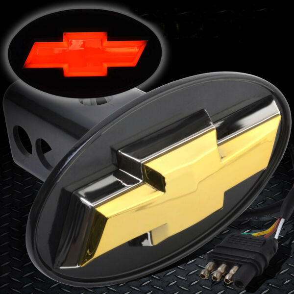Chevy Hitch Cover Licensed LED Light Trailer Tow Hitch Receiver Silverado Trucks $33.89