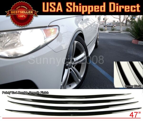 2 Pairs Slim Wide Fender Flare Extension 3D Carbon Protector Lip For Nissan $33.95