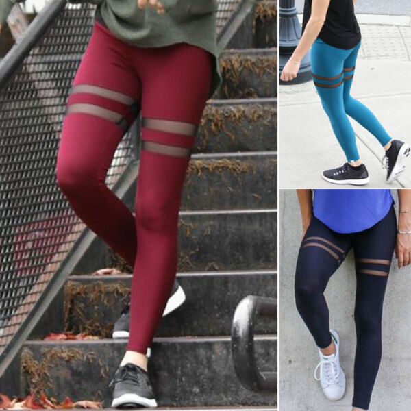 Damenleggins Sporthose Fitnessleggins Sport tights Yoga Pilates Leggins Gr. S-XL