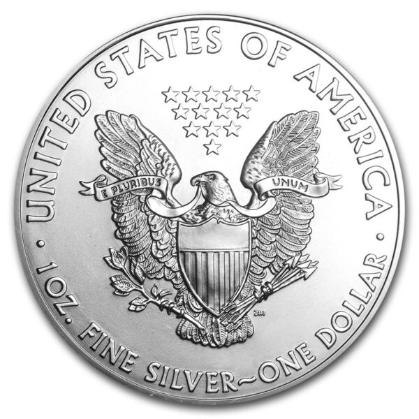 Silver American Eagle 1 oz. Coin - .999 fine silver American Eagles 1oz