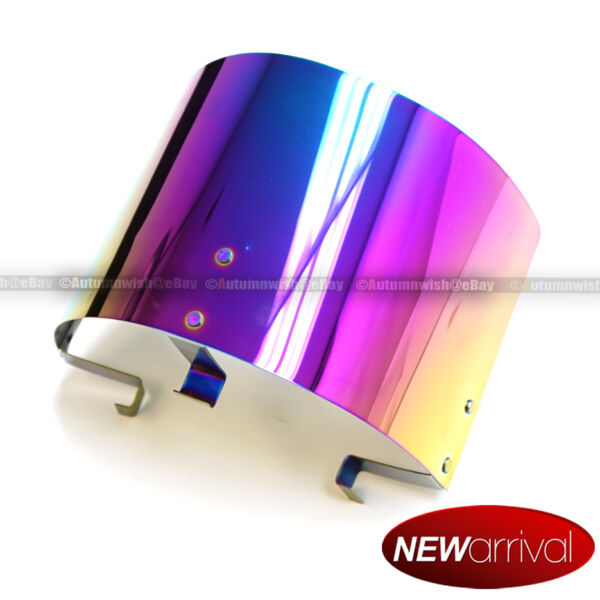 Neo Chrome Air Intake Filter Heat Shield For 2.25quot; to 3.5quot; Cone Filters $19.95