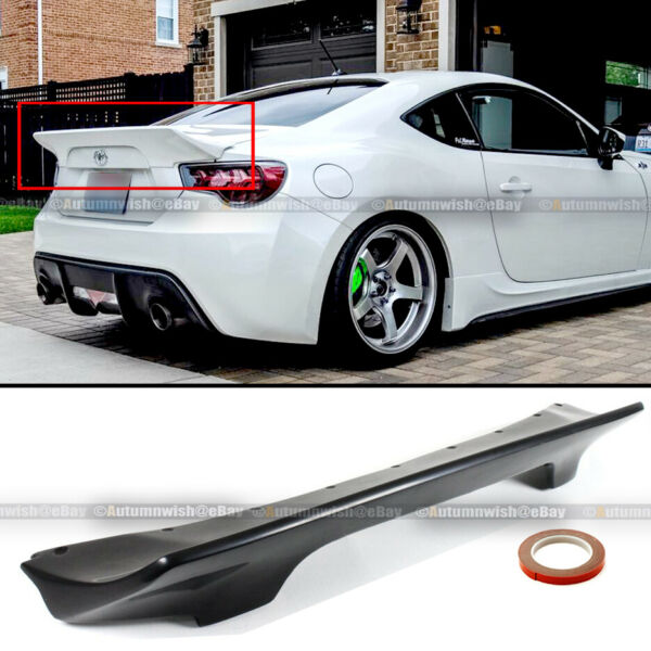 Fit 13-20 FRS  BRZ 86 Rocket Bunny Style Unpainted PU Rear Trunk Lip Spoiler