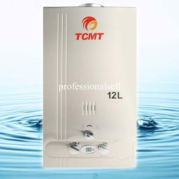 12L Natural Gas Tankless 3.2GPM Hot Water Heater Instant Home Bathroom Boiler