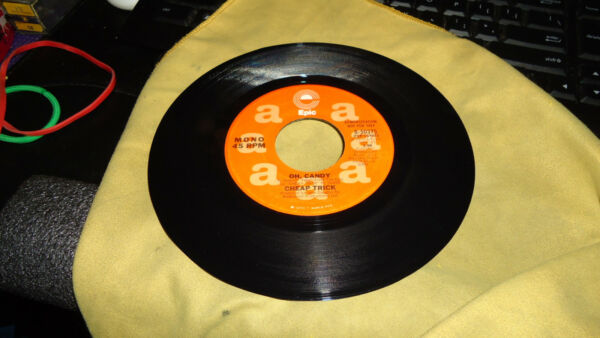 rare 45 CHEAP TRICK WLP promo Oh Candy Store Stock 45 NEW WAVE Punk on EPIC VG++