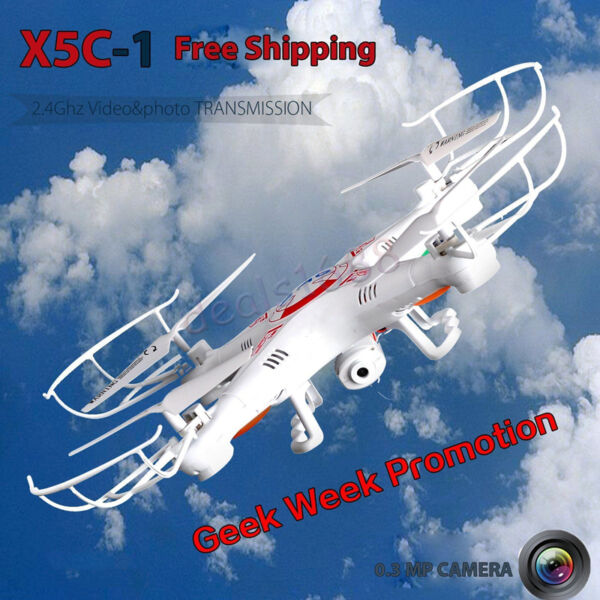 X5C-1 2.4Ghz 6-Axis Gyro Drone UAV RTF UFO RC Quadcopter with 2MP HD Camera Gift