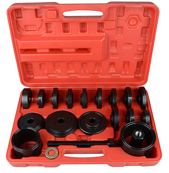 23 pcs Front Wheel Drive Bearing Removal Press Adapter Puller Pulley Tool Kit