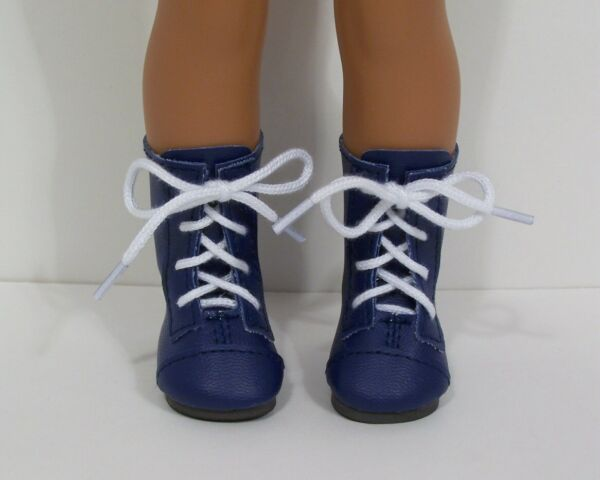 NAVY BLUE LaceUp Boots Doll Shoes For 14