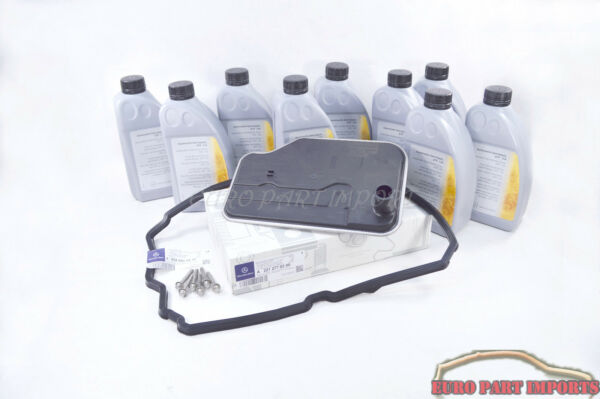 Mercedes Benz Automatic 9 Transmission Service Fluid + Gasket + Filter +Bolts