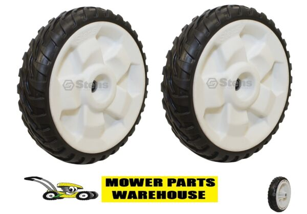 2 NEW REPLACEMENT TORO 8 INCH DRIVE WHEELS FWD 22quot; RECYCLER 119 0311