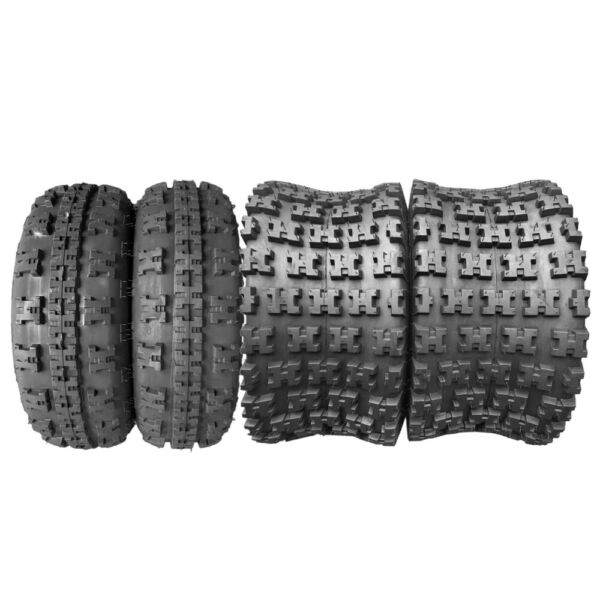 Set of four ATV/UTV Tires 2 of 25x8-12 Front and 2 of 25x10-12 Rear/6PR P377 New