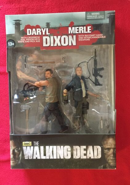 The Walking Dead AMC TV Merle and Daryl Dixon Action Figure 2-Pack New