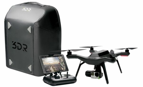 NEW 3DR Solo Smart Drone Backpack Bundle with 3 Axis Gimbal Original Box BB11A