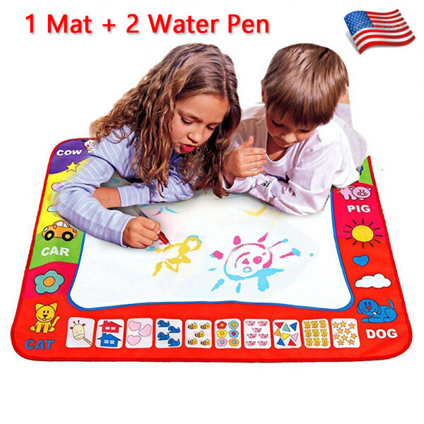 Children Aqua Doodle Learning Drawing Toys 1 Painting Mat   2 Water Drawing Pen