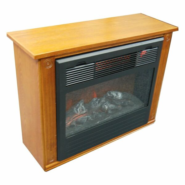 New Contemporary Finish Infrared Heat Electric Fireplace Heating Warmth