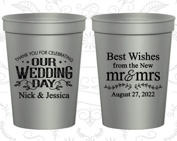 Personalized Wedding Gift Cups Custom Cup (550) new Mr and Mrs Best Wishes