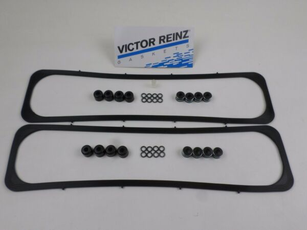 Victor Full Set of SBC Valve Stem Seals & Cover Gaskets for Chevy 267 305 350