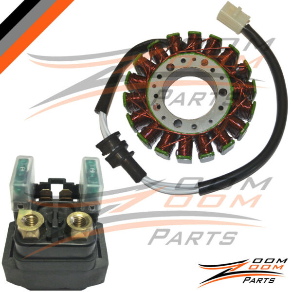 1999-2002 Yamaha R6 YZFR6 YZF-R6 Magneto Stator Coil & Starter Relay Motorcycle