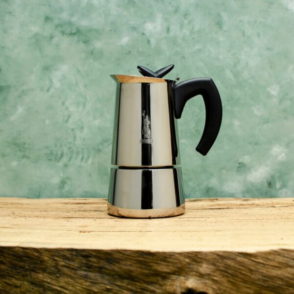 Bialetti Musa Coffee Percolator Stainless Steel Stovetop Coffee Maker