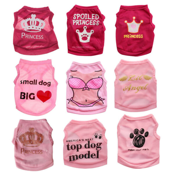 Cute Teacup Dog Clothes Girl Dog T shirt Pet Puppy Vest for Chihuahua yorkie Dog $3.99