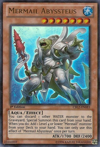 *** MERMAIL ABYSSTEUS *** ULTRA RARE MINT NM CBLZ EN083 YUGIOH
