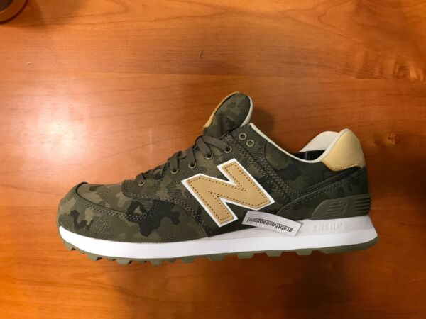 New Balance NB 574 Camo Green Tan White #ML574CMC Men