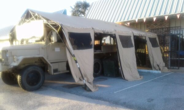 U.S. Military Tent BaseX 305 18#x27; X 25#x27; Hunting Camping Carport Shelter Open Ends