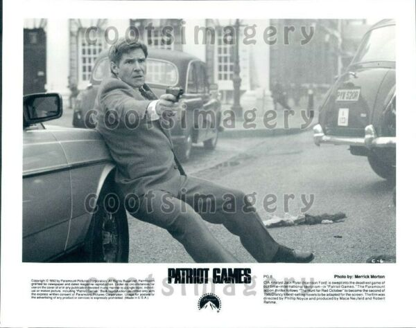 1992 Wire Photo Actor Harrison Ford Action Scene From Patriot Games