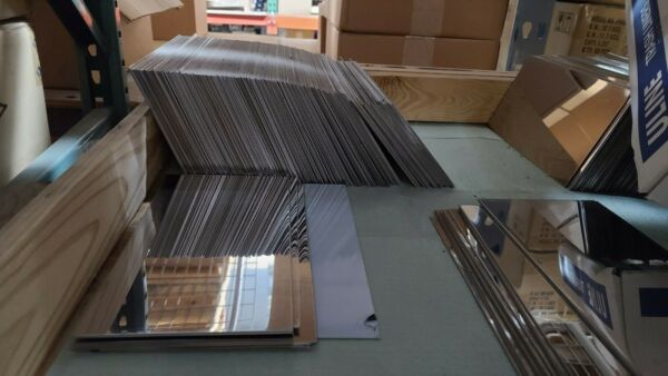 Stainless Steel 304 SS Sheet Plate #8 Mirror Finish 6quot; x 12quot; 16ga .065 16 Gauge