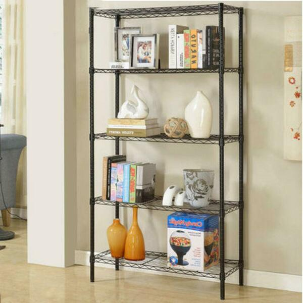 345 Tier Wire Shelving Rack Metal Shelf Adjustable Home-saving Garage Storage