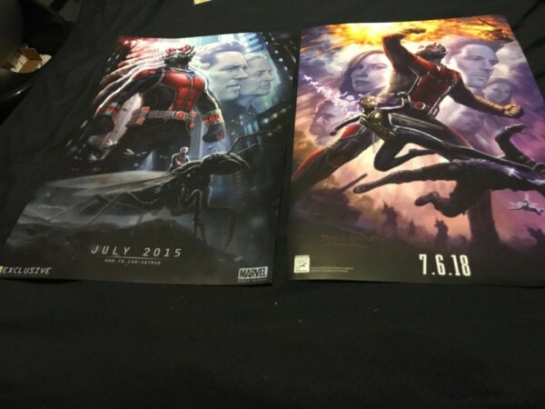 2014 2017 SDCC Comic Con Exclusive Marvel Ant-Man and the Wasp Poster Lot