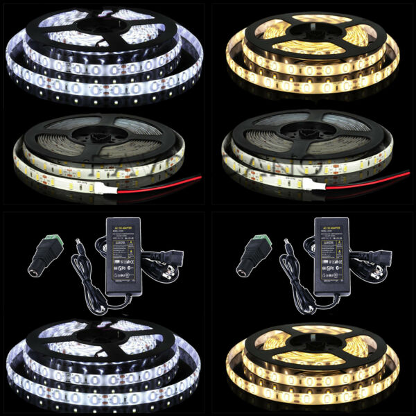 5M SMD RGB 5050/3528/5630 60LED/M 300LEDs Pure/Warm White Strip Light Waterproof