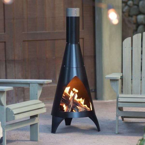 Outdoor Fireplace Wood Burning Patio Firepit Burner Fire Pit Chiminea Modern