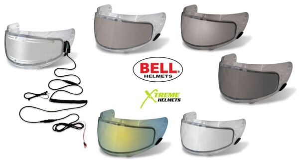 Bell Click Release Snow Dual Lens or Electric Heated Shield Helmet Visor