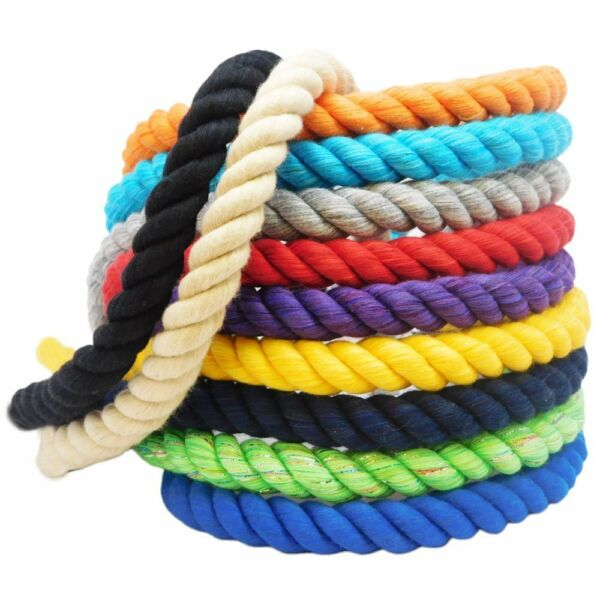 Ravenox Twisted Cotton Rope Spools Soft Natural Cordage Custom Colors