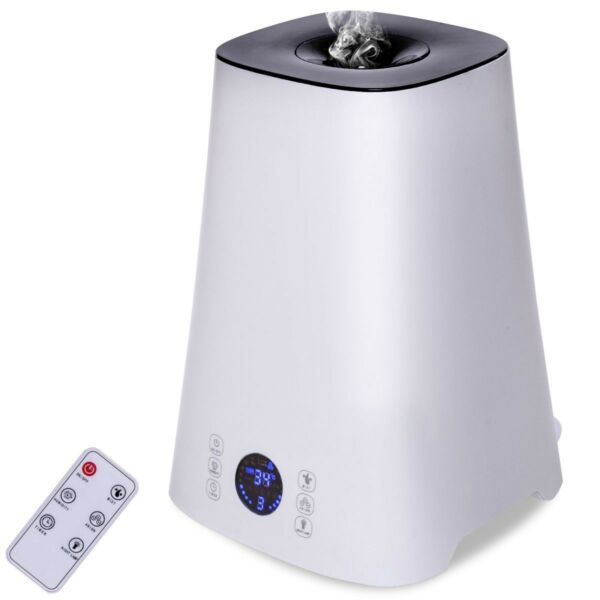 Remote Control 5L Cool Mist LCD Ultrasonic Humidifier Ionic Air Purifier Timer